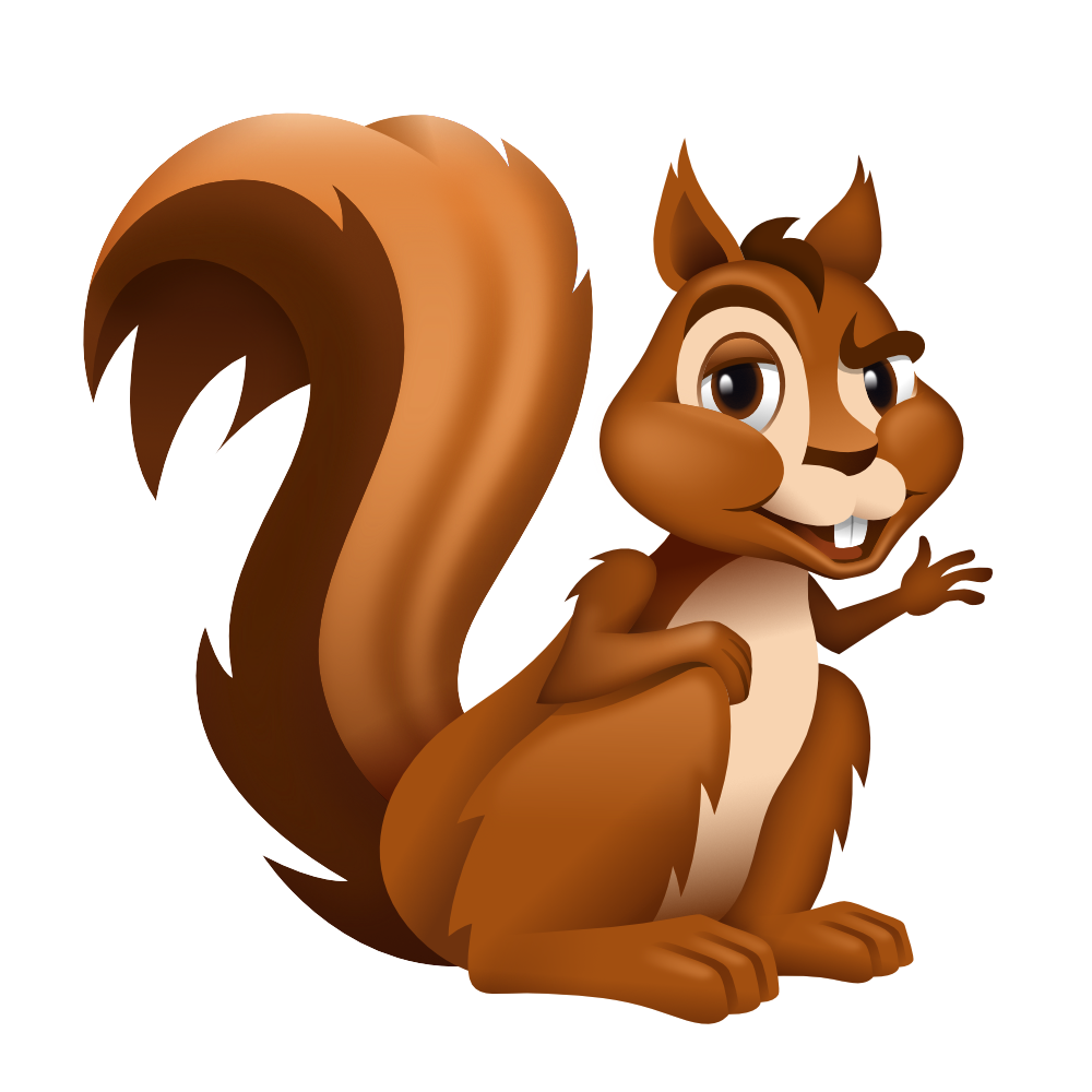 Clipart squirrel painted. Kevin creative illustration ensure