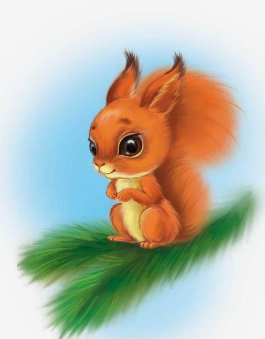 Clipart squirrel painted. Cute rock idea rocks