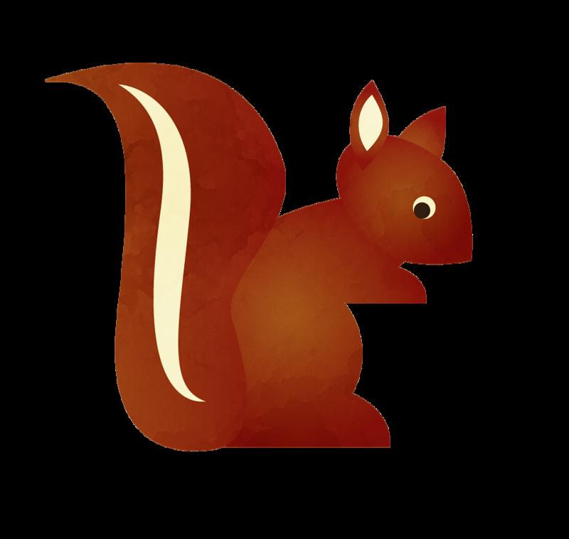 Squirrel clip art forest. Woodland clipart wild animal