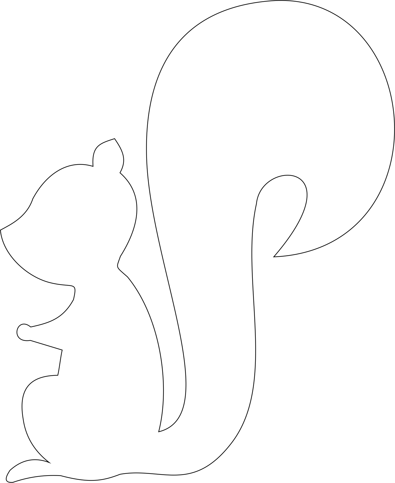 image relating to Printable Squirrel Target named On the lookout clipart focus searching, On the lookout concentrate on the lookout