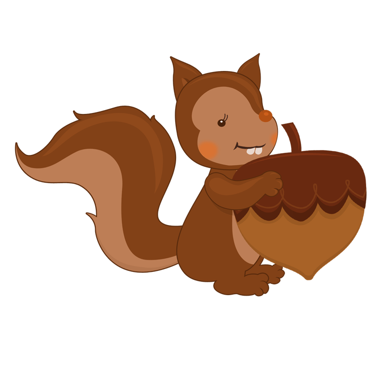 Thanksgiving helper squirrel and. Feast clipart family reunion dinner