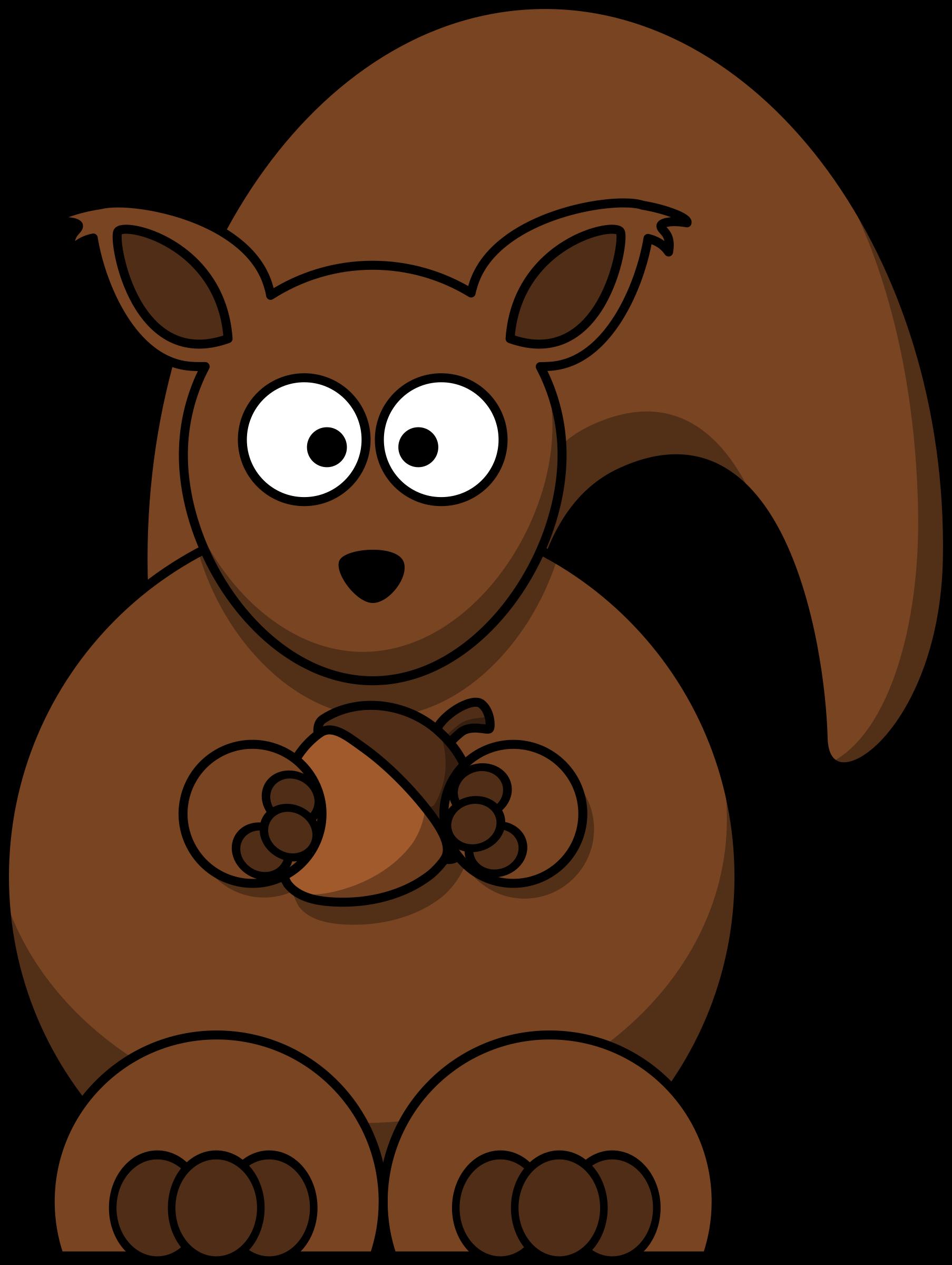 Cartoon big image png. Clipart squirrel woodland