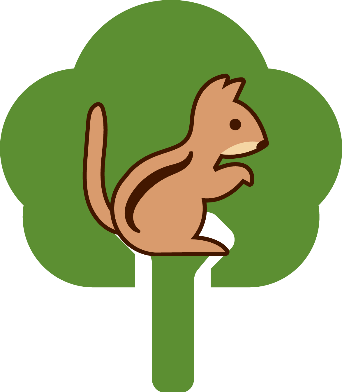 Clipart squirrel woodland. In the zone gardens