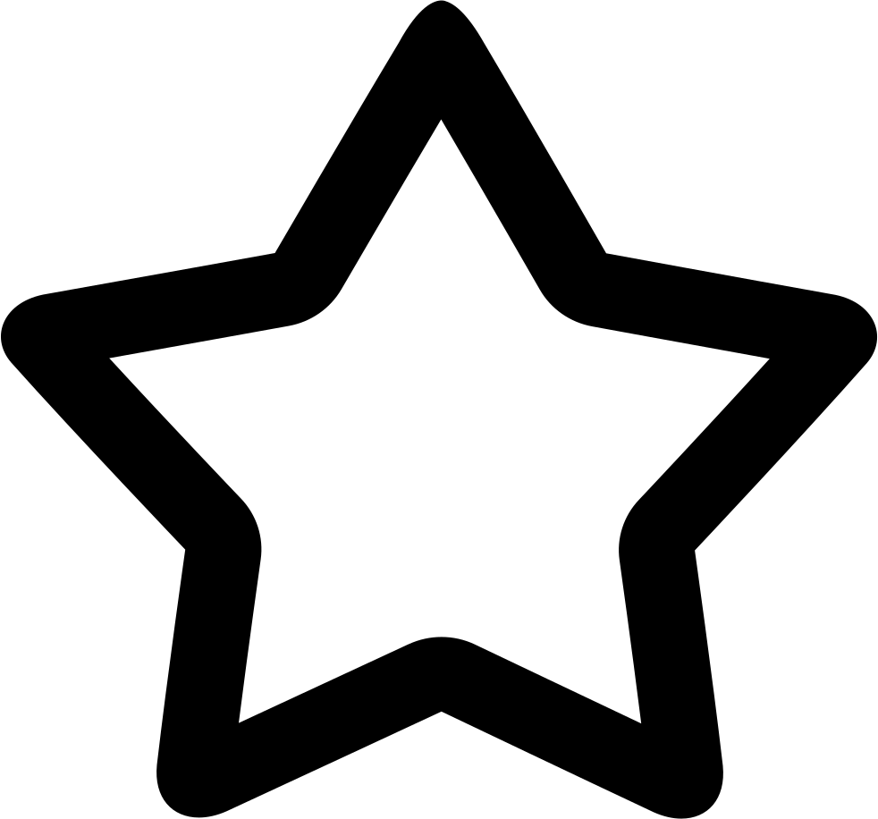 Clipart star accent. Hollow svg png icon
