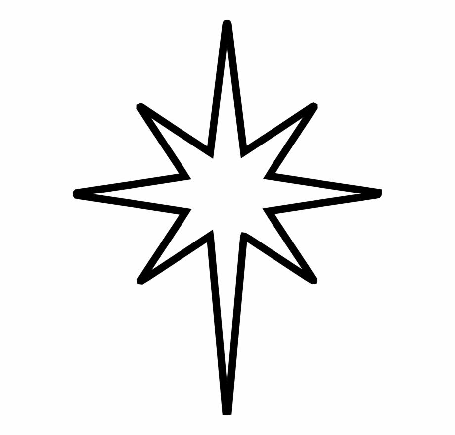 Clipart stars accent. Star of bethlehem cut