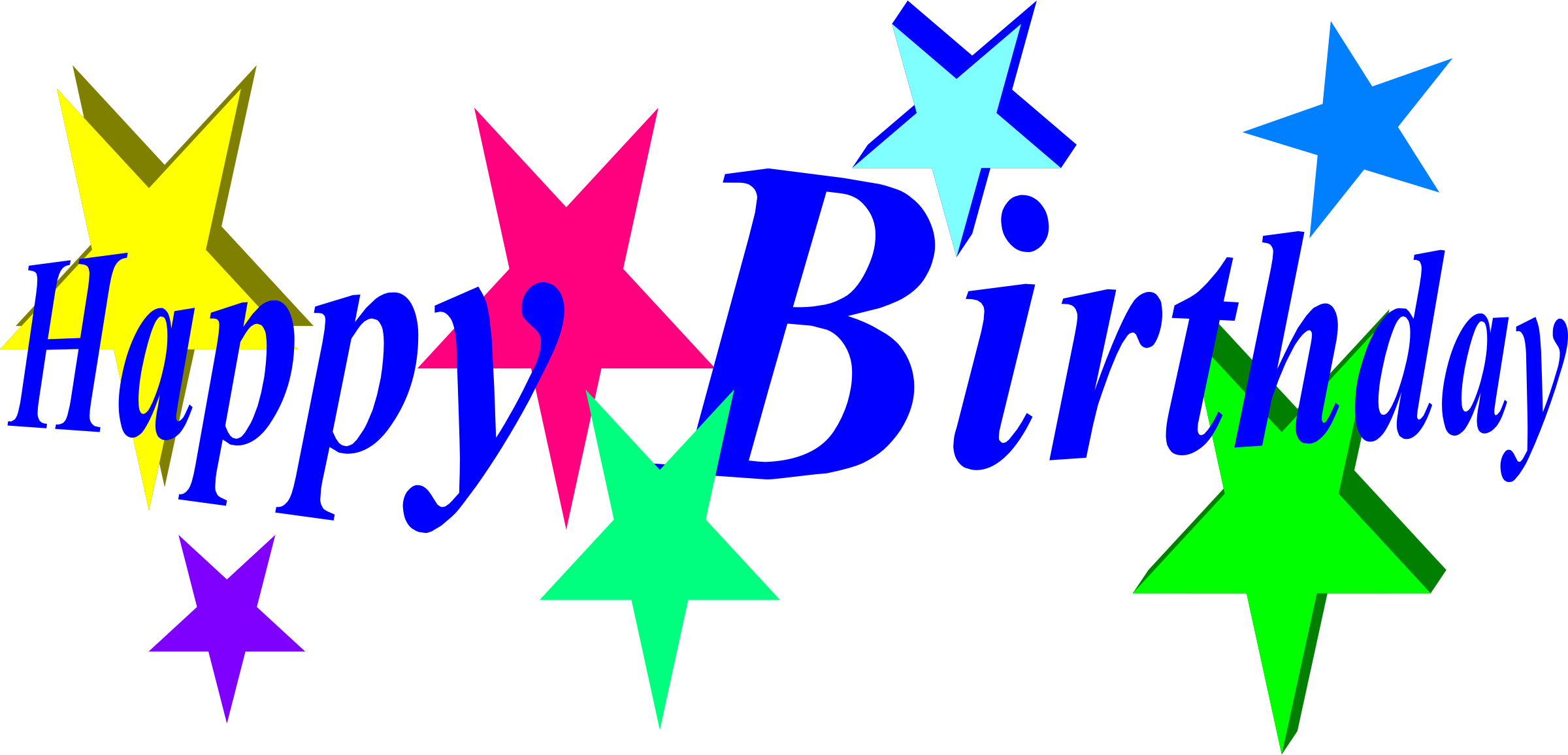 Star pencil and in. Design clipart happy birthday