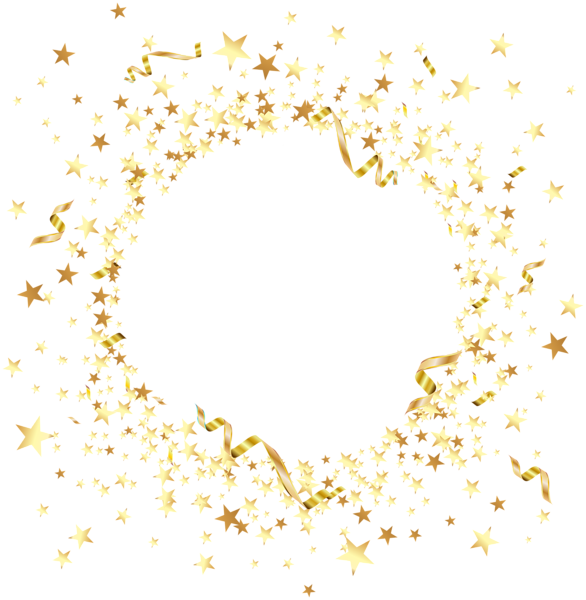 Round element with gold. Clipart star burgundy