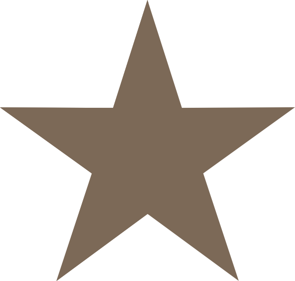 Clipart star burgundy. Brown clip art at