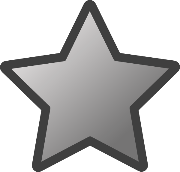 Shell clipart blue star. Outlined grey clip art