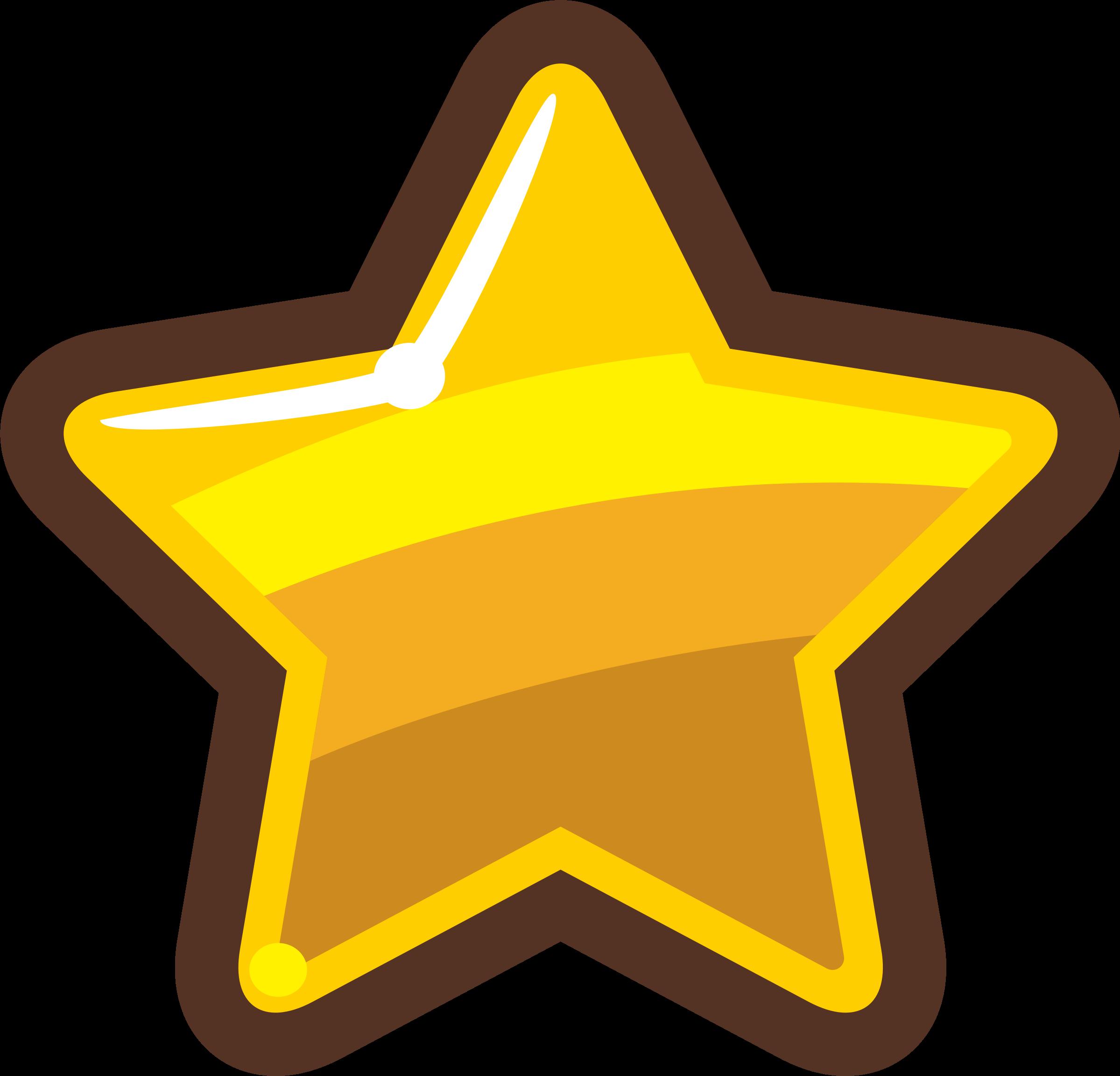 Psychology clipart cute. Cartoon gold star big