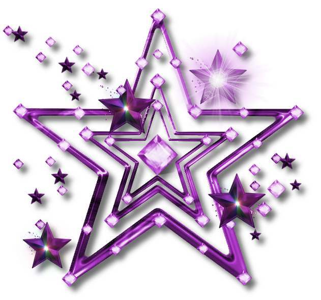 Stars png jewel star. Galaxy clipart purple green