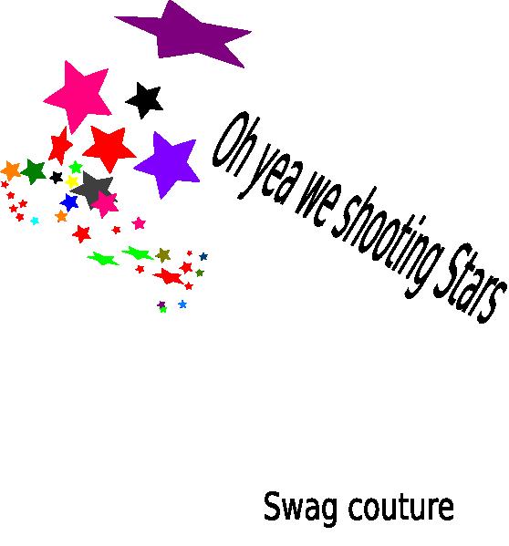 Clipart star confetti. Shooting stars clip art