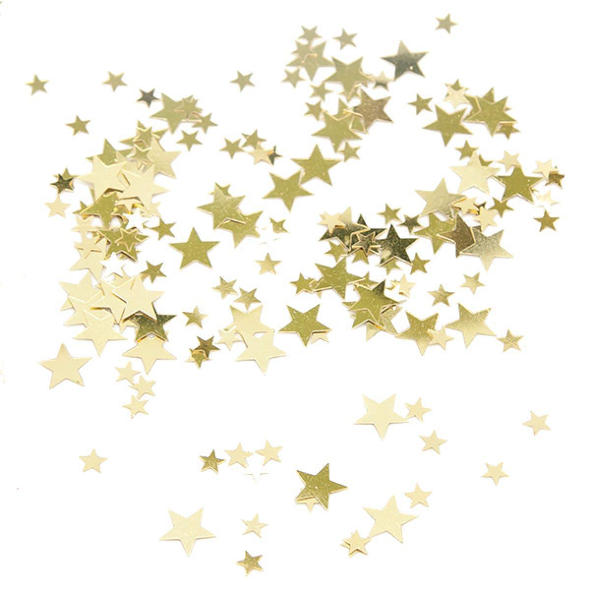 Clipart star confetti. Gold clip art transprent