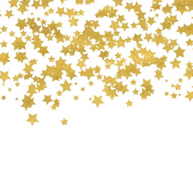 Star and psd file. Gold confetti border png