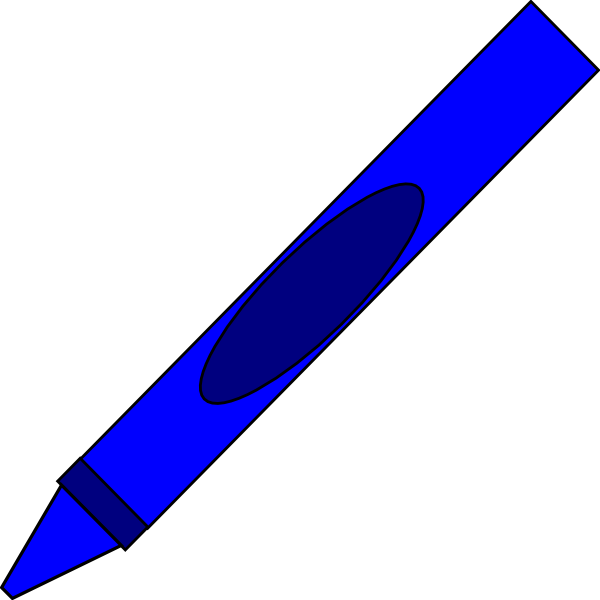Crayon clipart shape. Totetude blue clip art