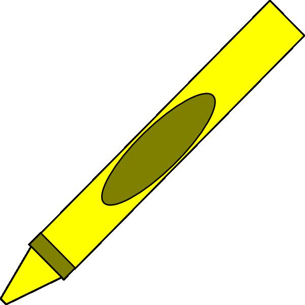 Markers clipart cryons. Totetude yellow crayon clip