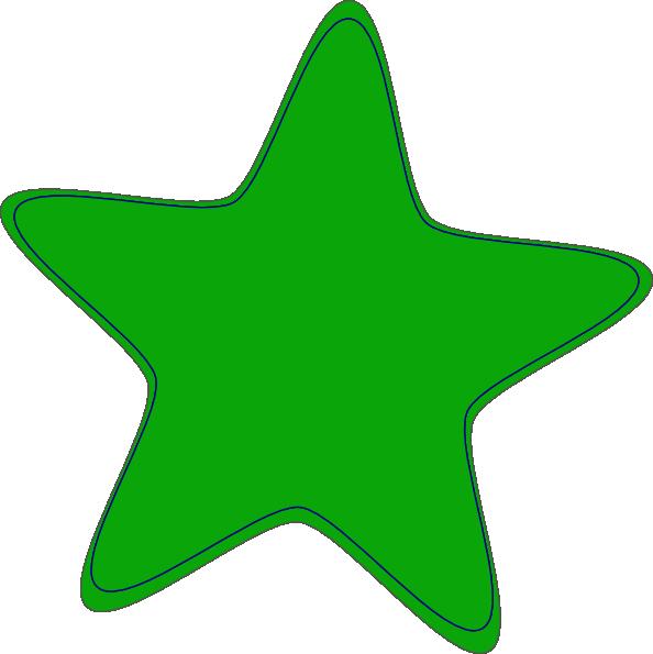 Green clip art at. Cute clipart star