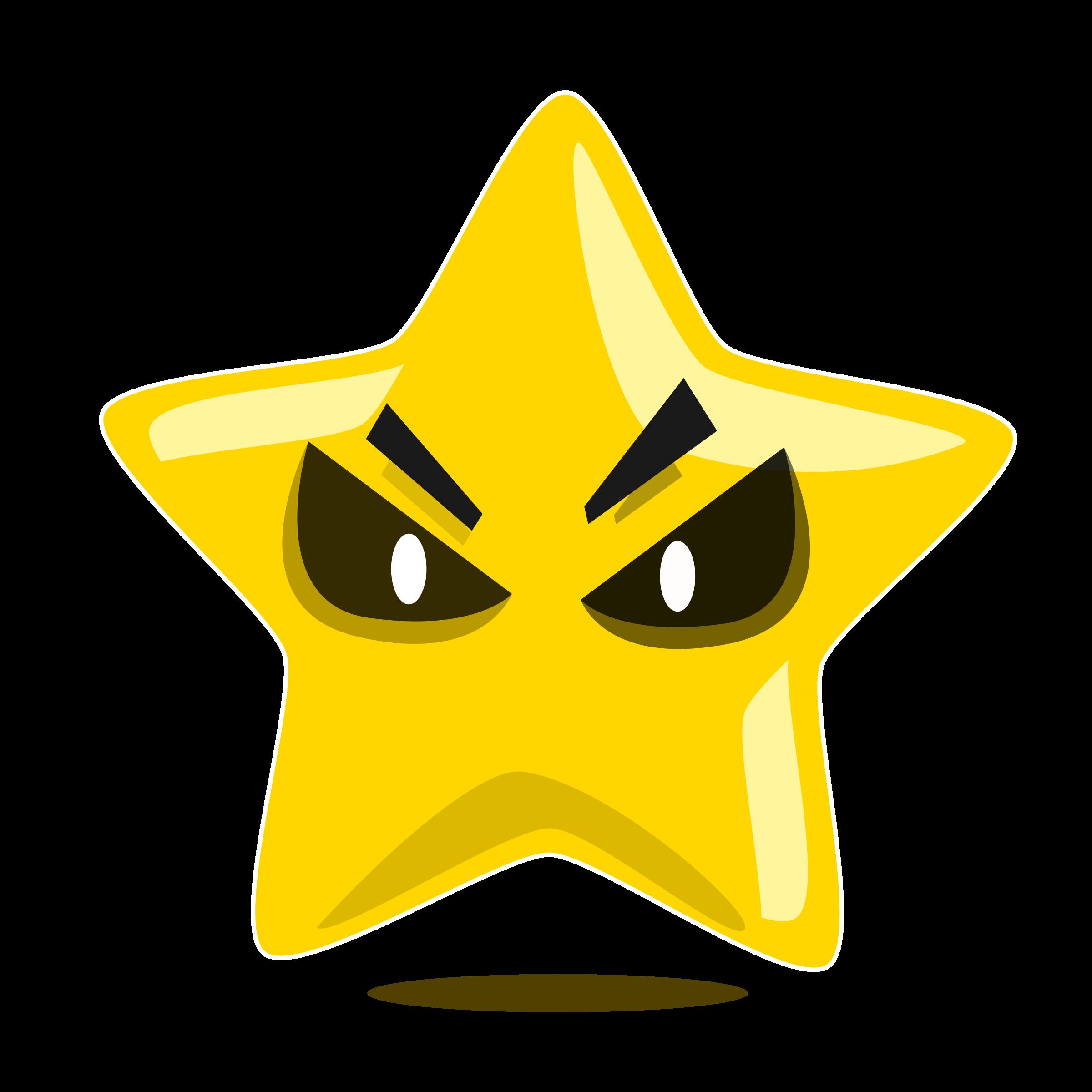 Evil character big image. Cute clipart star