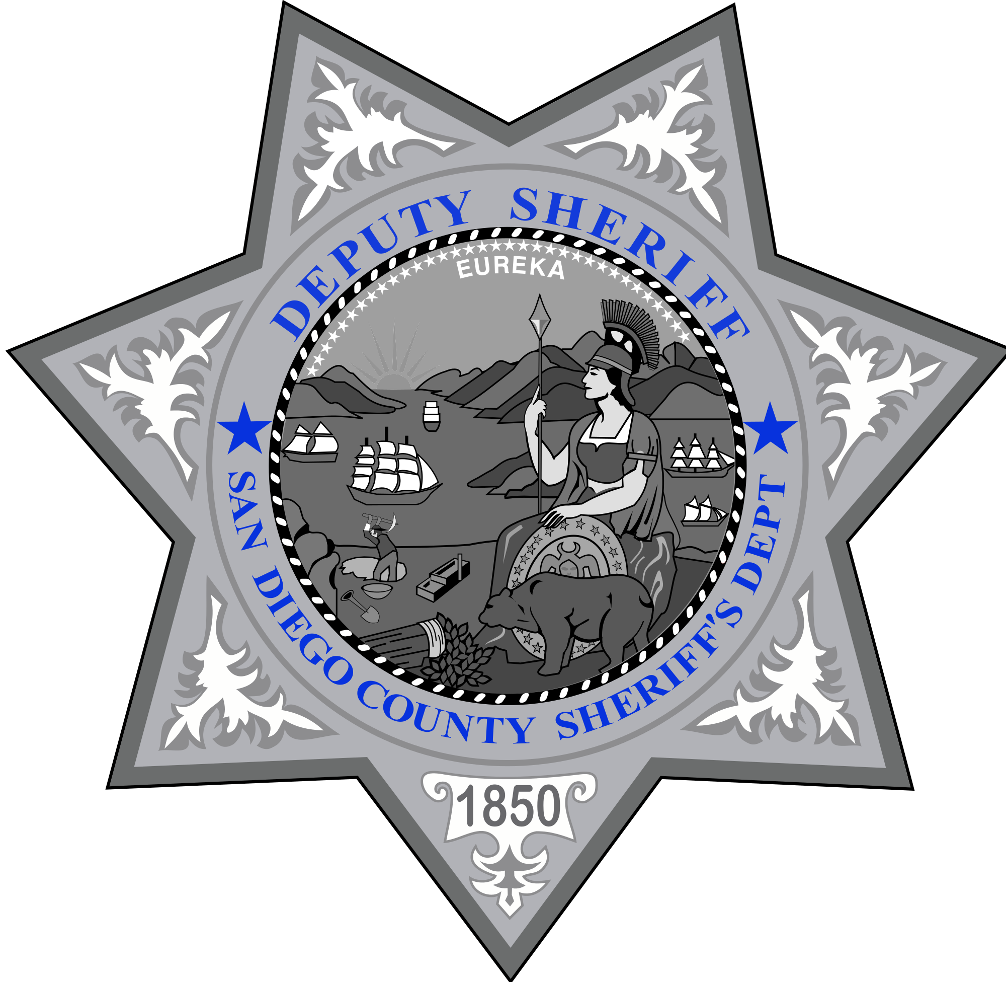 Clipart star deputy. File badge of the