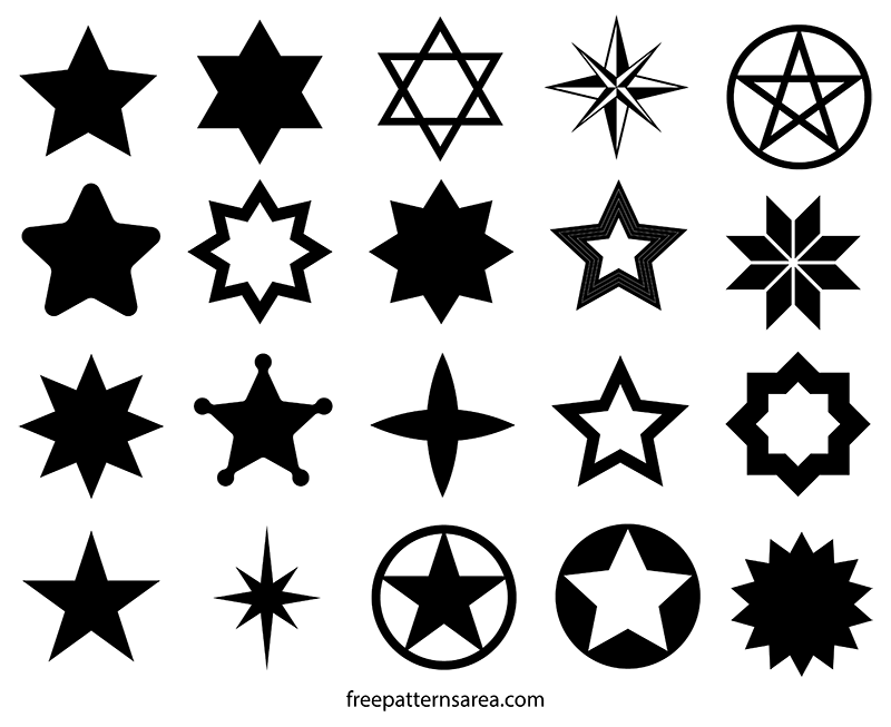 Star Vector Shapes and Cutouts Template