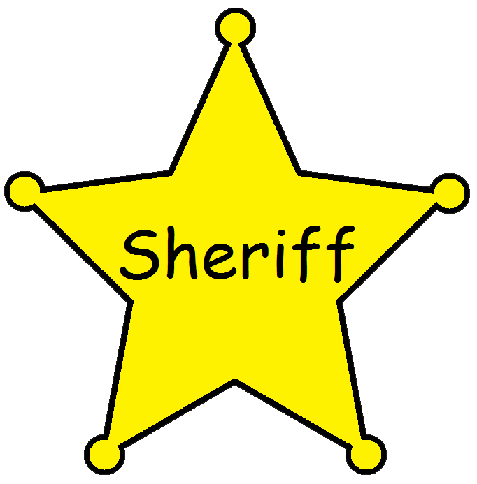Deputy clipground. Badge clipart sheriff
