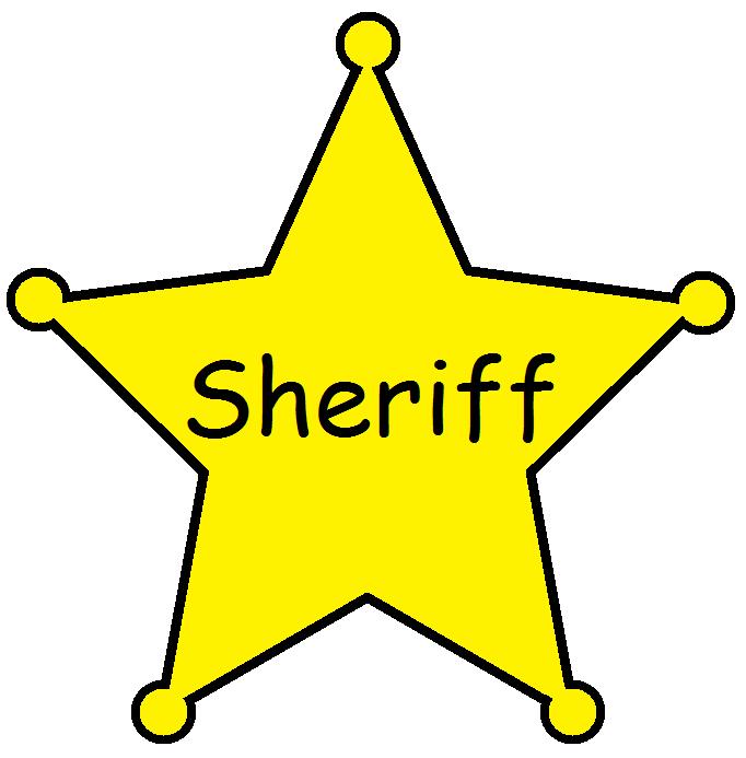 Clipart stars sherrif. Deputy clipground badge