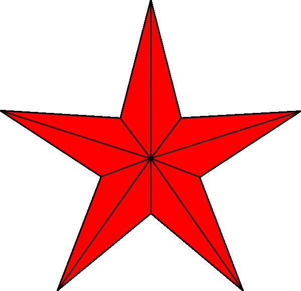 Red star border clip. Clipart stars divider