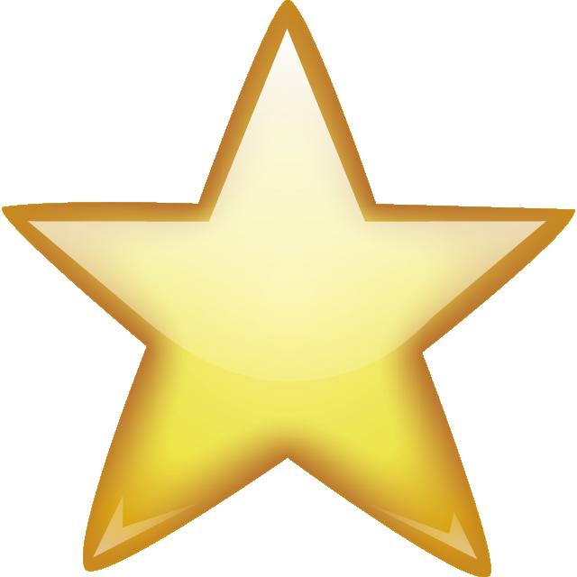 Golden star png image. Clipart stars emoji