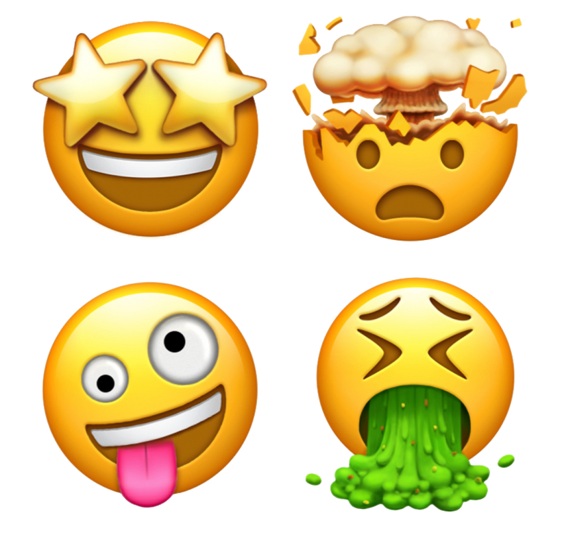 Emoji clipart iphone. New cool ios png