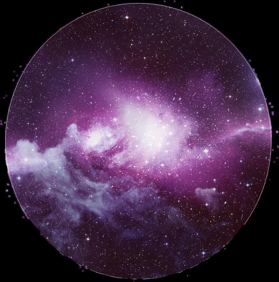 Galaxy circle. Clipart space center transparent