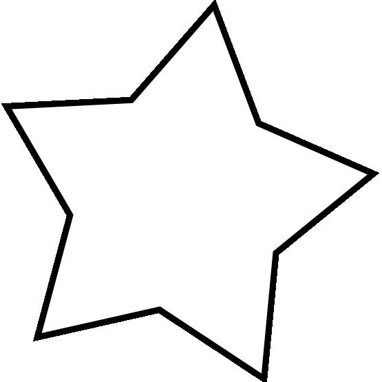 clipart star line