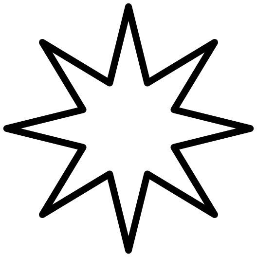 Clipart stars math. Eight point star panda