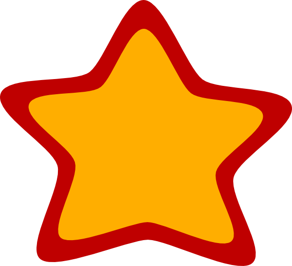 Red yellow clip art. Clipart star meteor
