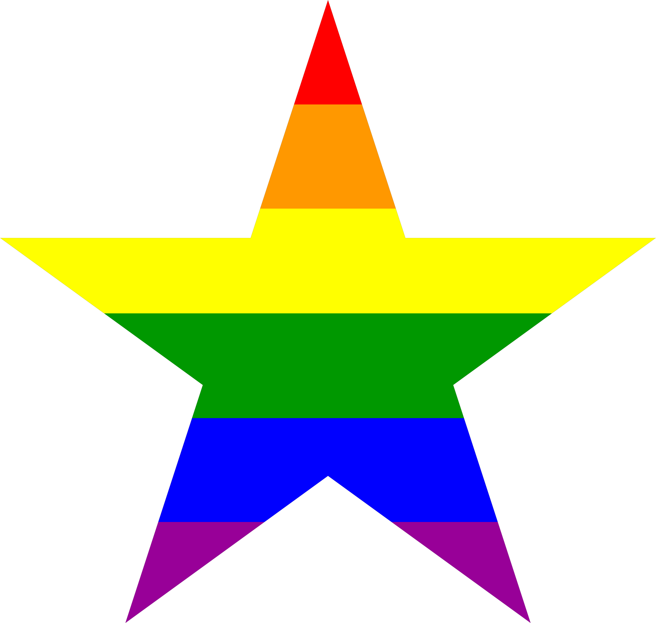 Rainbow stars pencil and. Clipart star meteor