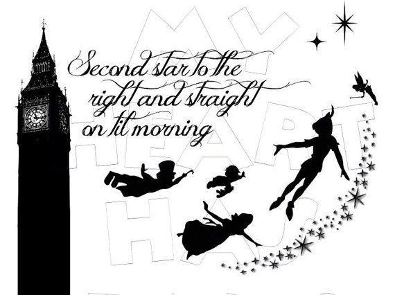 Printable digital clip art. Clipart star neverland