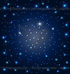 Sky with stars vector. Night clipart star