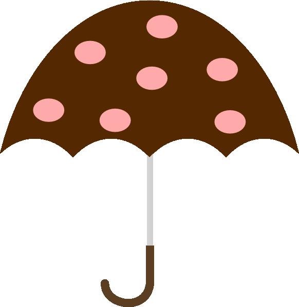 Polka dot clip art. Clipart umbrella vector