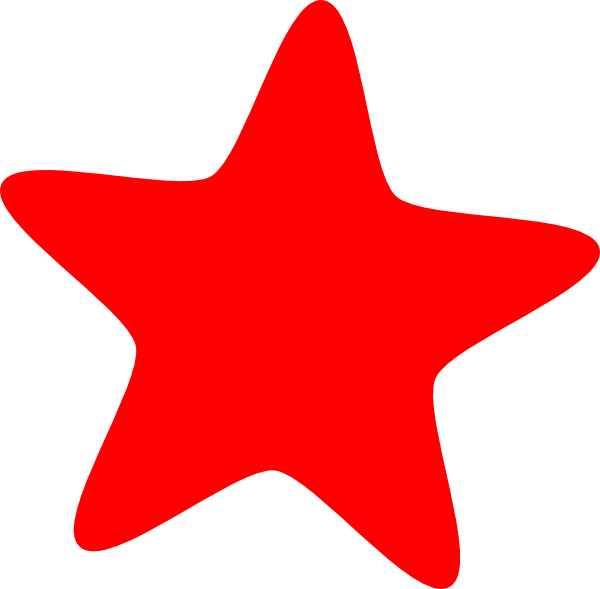 Red clip art at. Clipart star printable