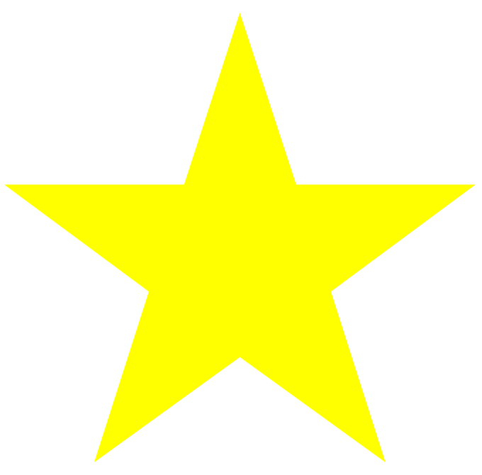 Yellow stars acur lunamedia. Clipart star printable