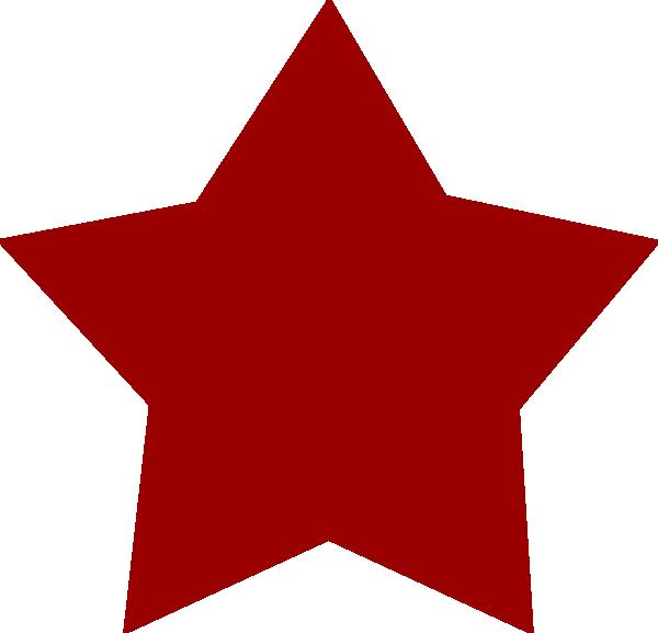 Clipart stars maroon. Red star clip art