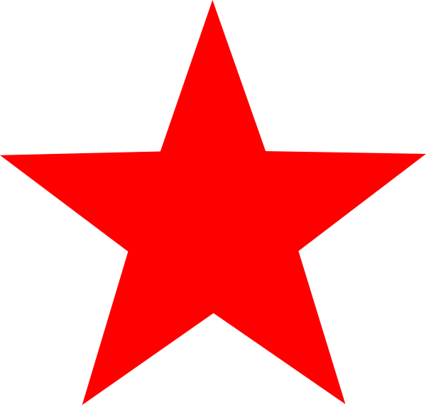 Star clip art at. Nautical clipart red