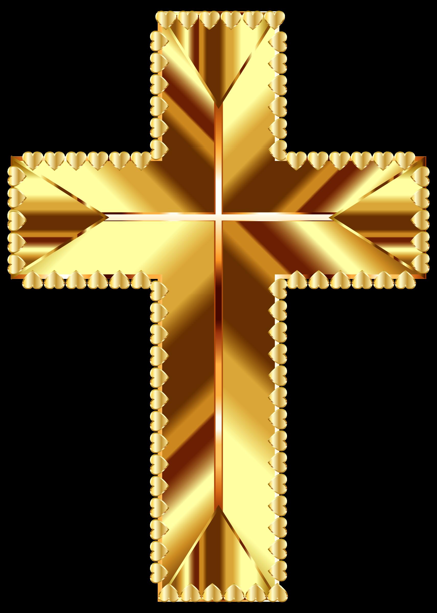 Golden cross love deeper. Color clipart background