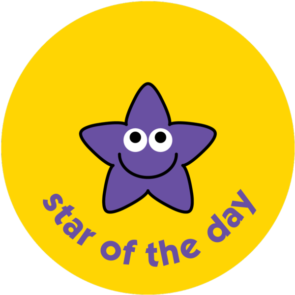 Of the day pack. Clipart star reward