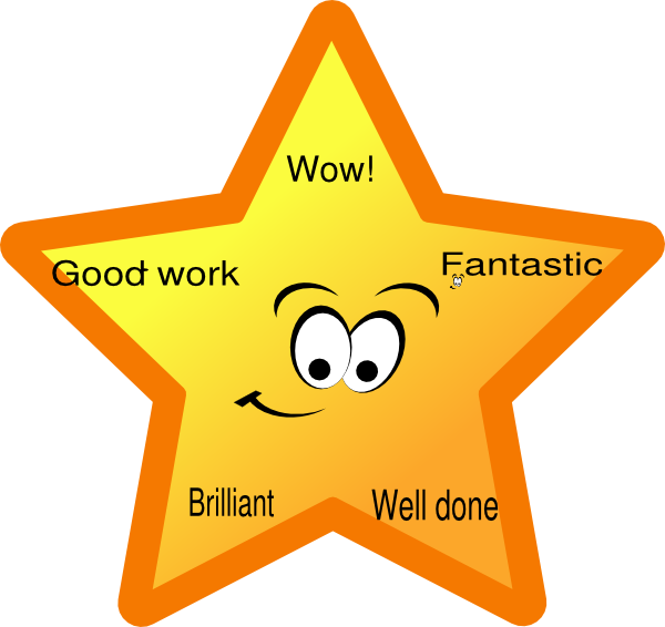 Reward clip art at. Wow clipart star
