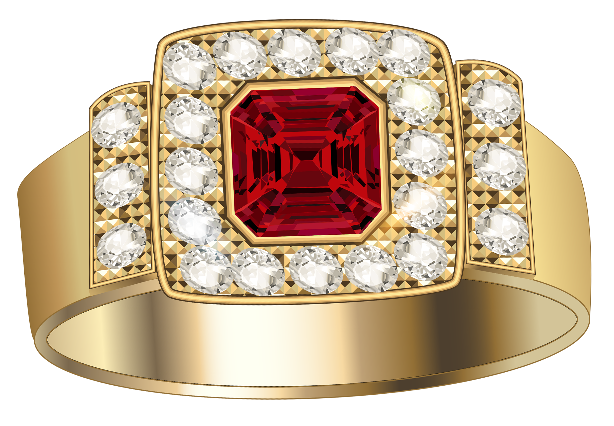Gold clipart jewels. Ring with diamonds and