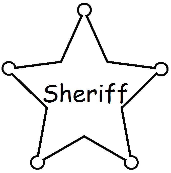 Graphics by ruth western. Clipart stars sherrif