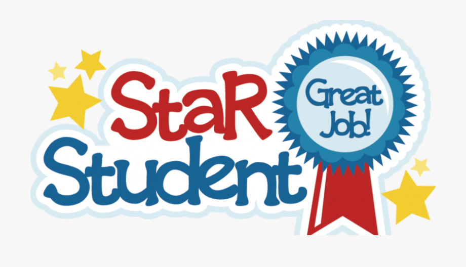 Star students for december. Clipart stars student
