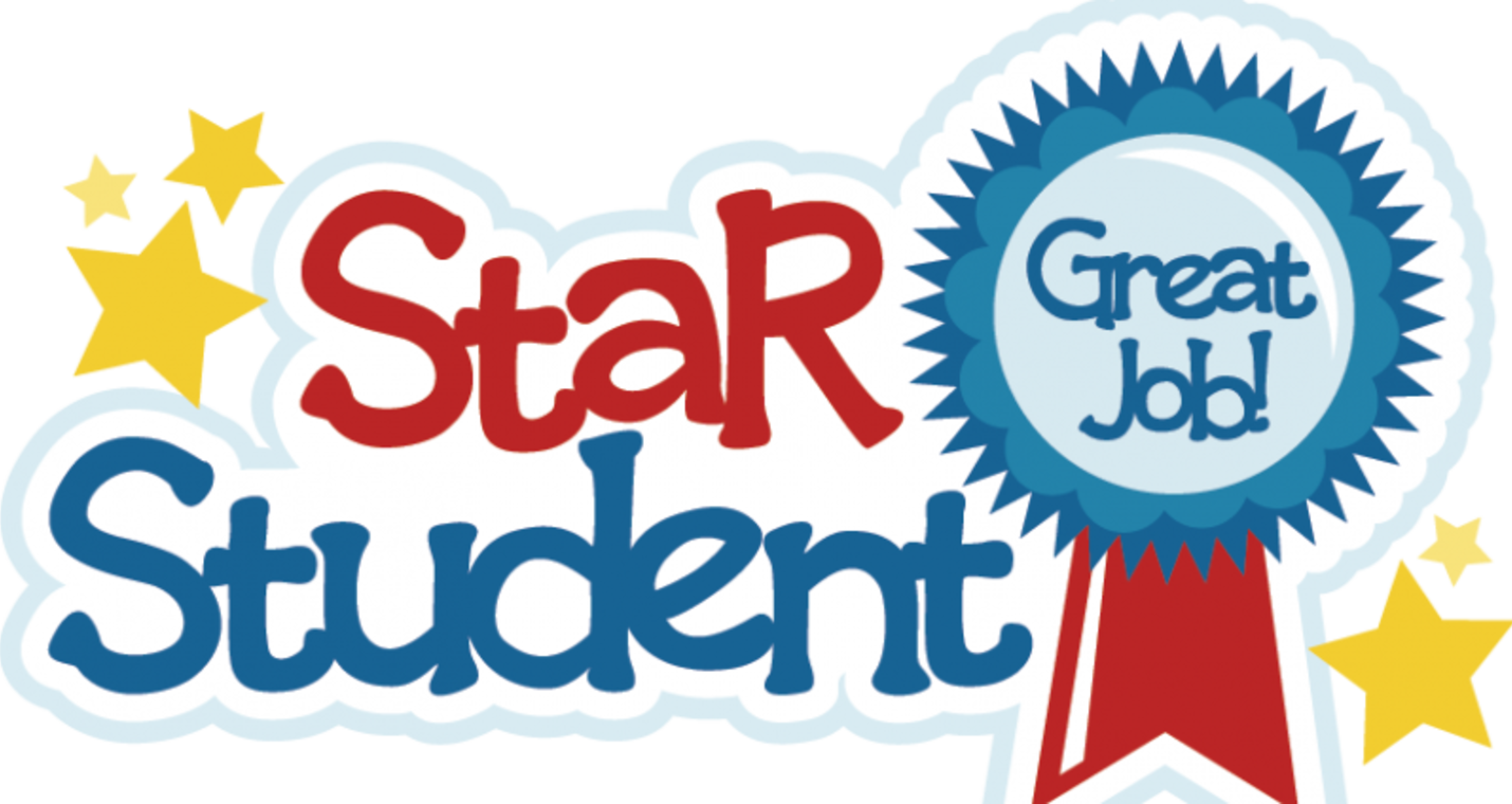 Clipart stars student. Star students for december