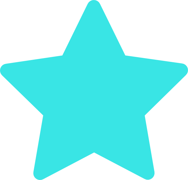 clipart star turquoise