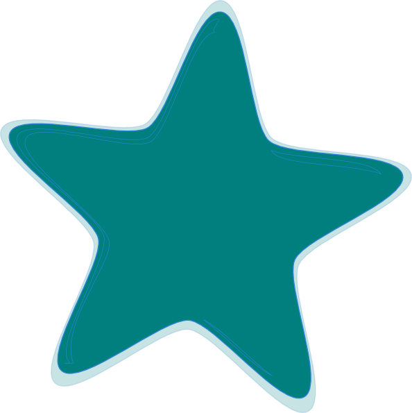 Star clip art at. Clipart stars teal
